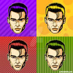 Young Johnny Depp Popart