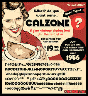 Calzone Font Sample