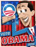 Obama cartoon poster
