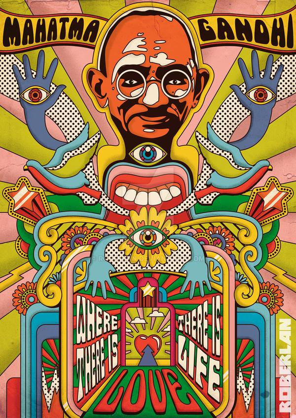Mahatma Gandhi by roberlan