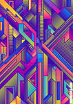 Abstract Lines Faux Gradients Psychedelic Vectors