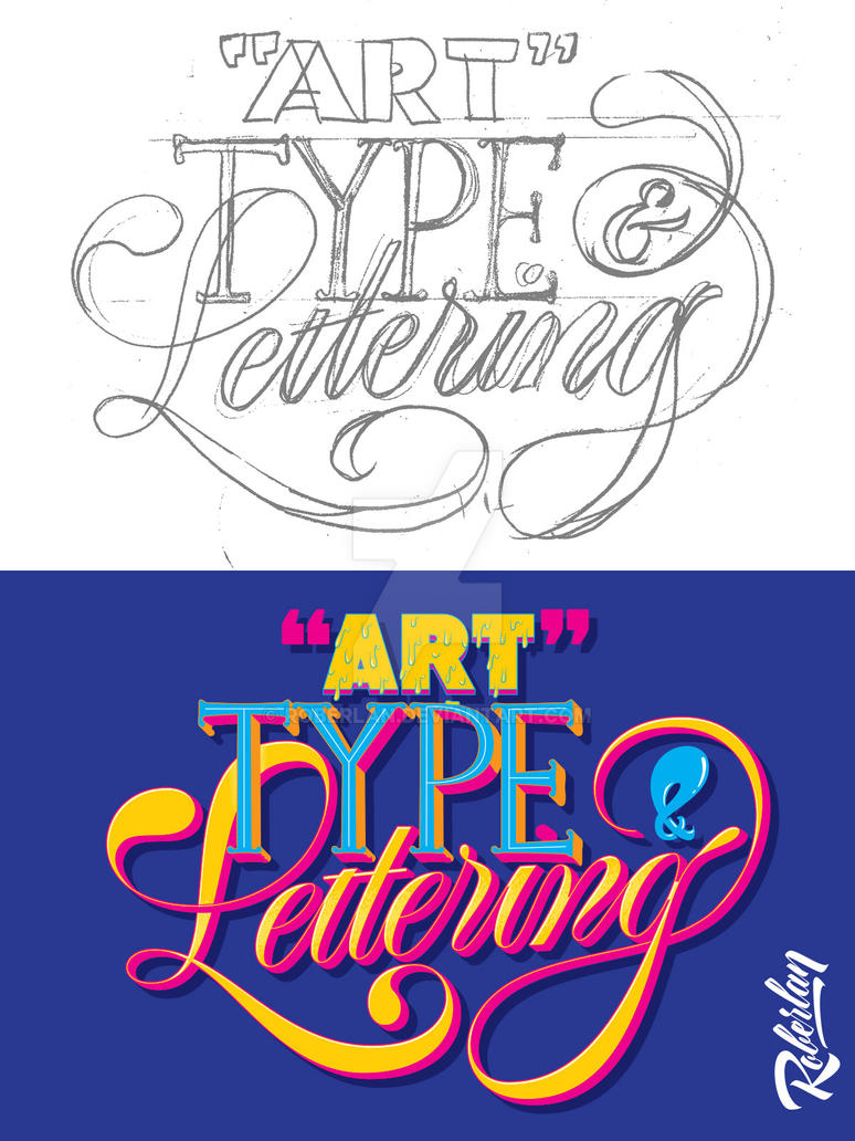 Art Type and Lettering by roberlan