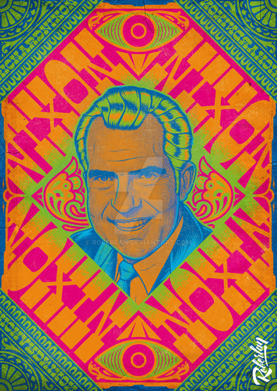 Nixon Psychedelic by roberlan