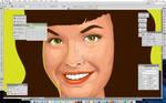 Bettie Page Portrait Wip