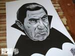 Lugosi Dracula Scratchboard