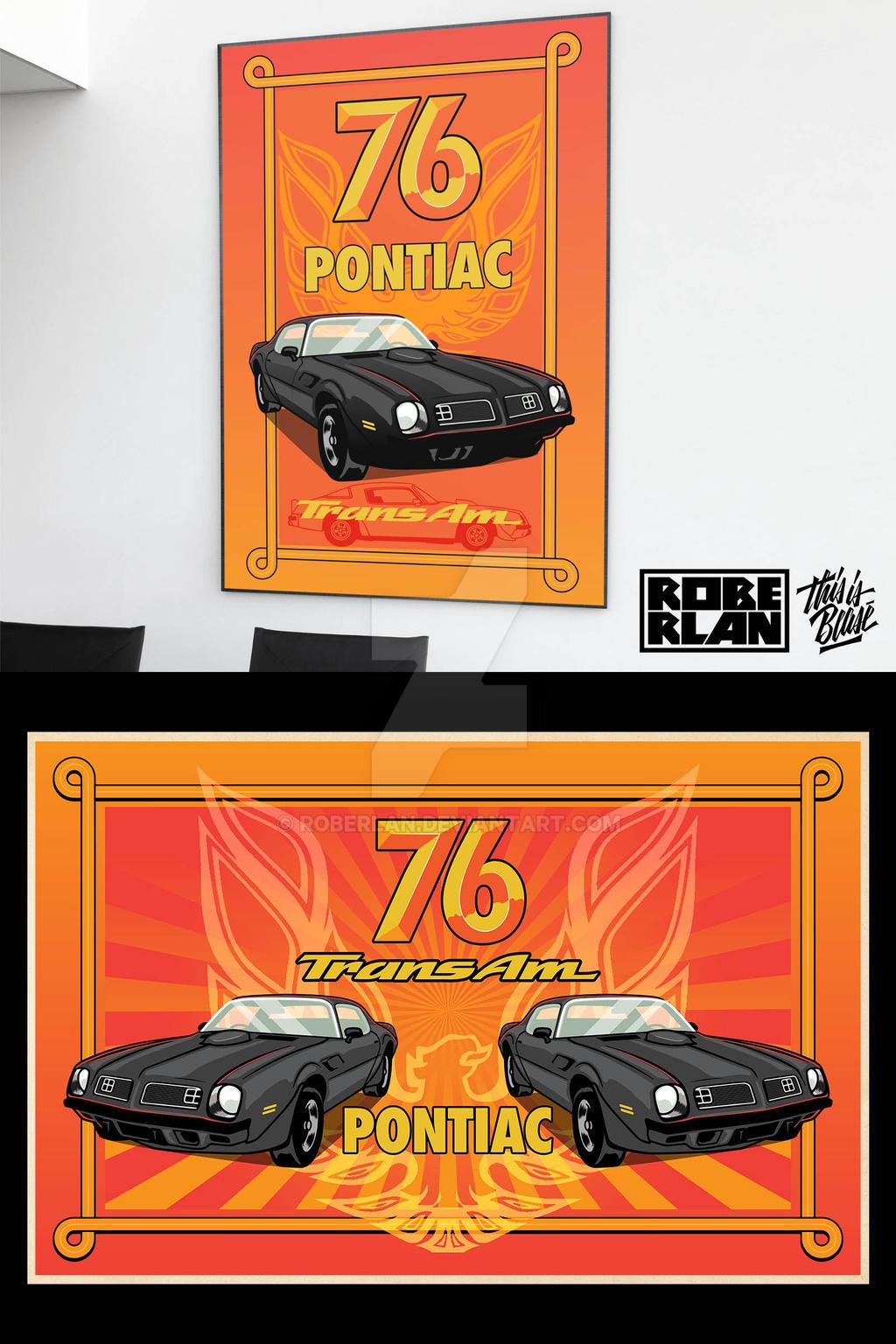 76 Pontiac Poster Commission
