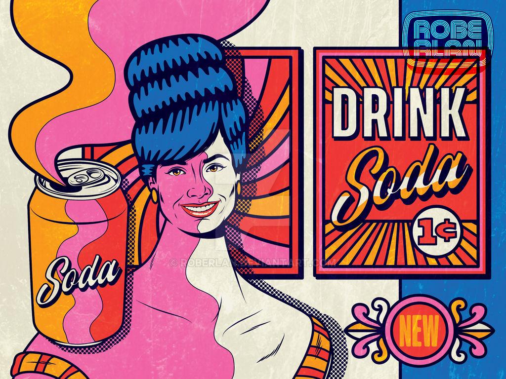 Soda Pop Vintage Art