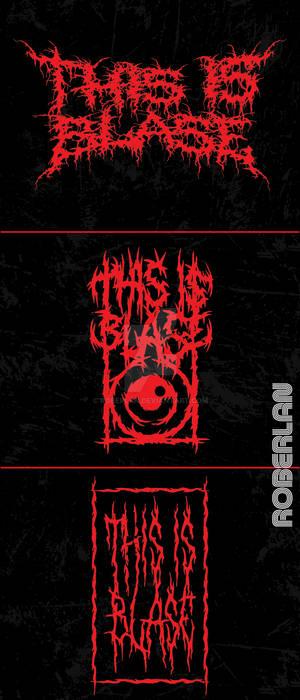 This is Blase Gory Metal Logos