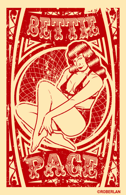 Bettie Page vector tribute by roberlan