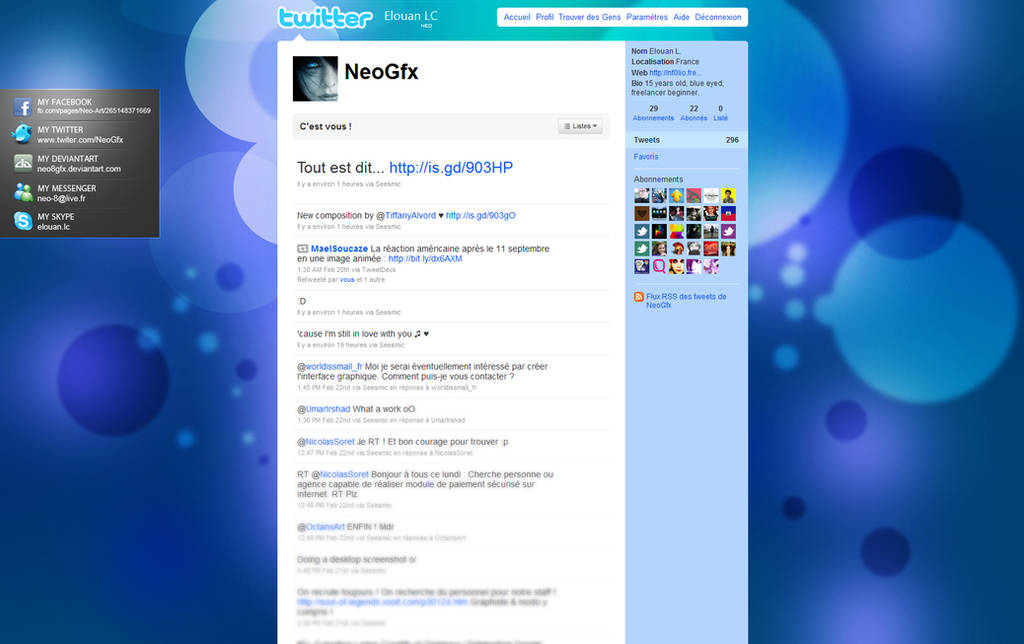Twitter background by Neo8gfx