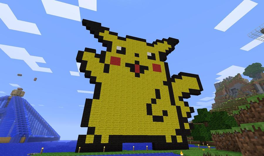 Minecraft Pikachu By Prochyprochy On Deviantart