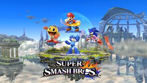 Super Smash Bros. Mario Sonic Pacman and megaman