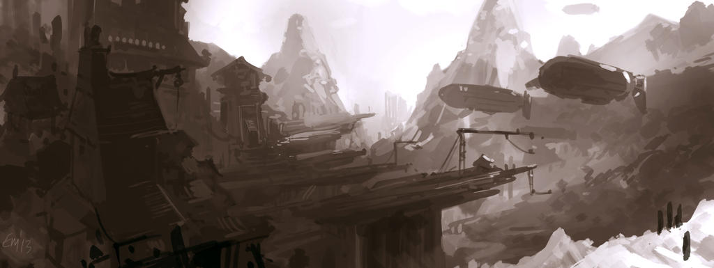 Airships by animationgorilla