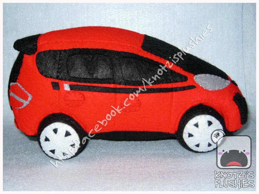 custom made plush car honda fit by knotzisplushies on deviantart. Black Bedroom Furniture Sets. Home Design Ideas