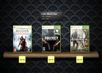Free Game Shelf PSD