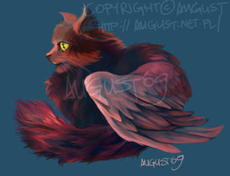 Winged Kitty by AugustAnna
