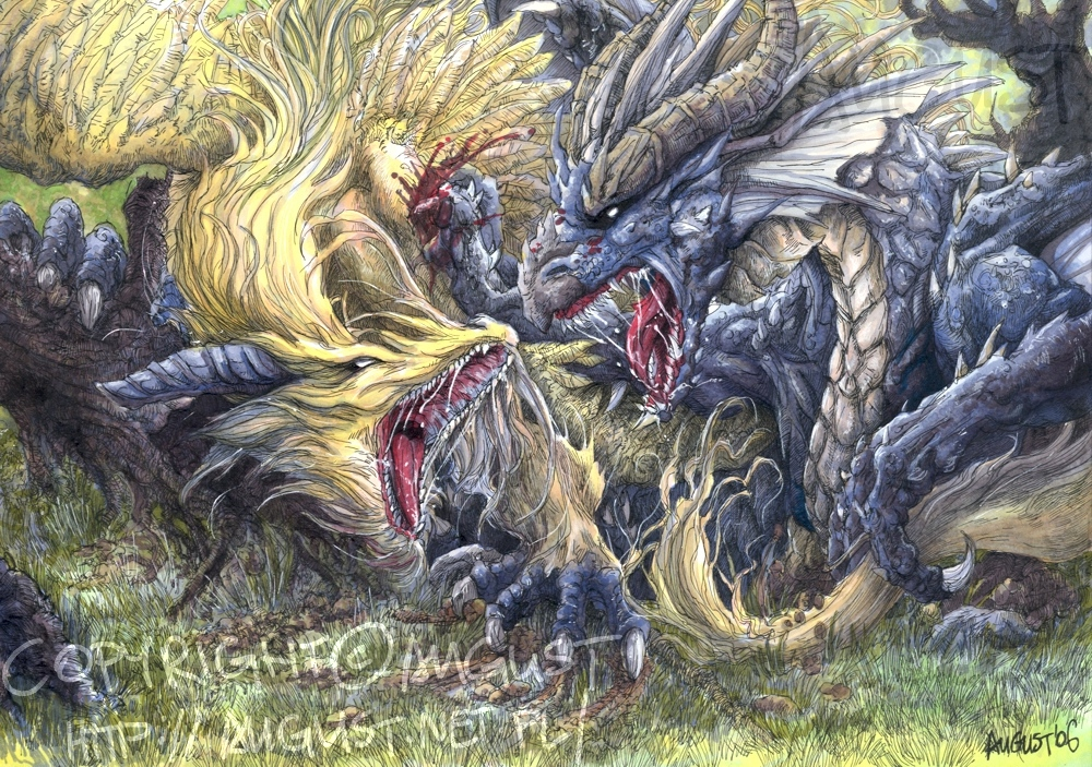 Dragon's Duel by AugustAnna