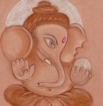 Lord Ganesh beautiful wallpaper by pastel by Jeshta