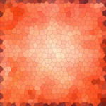 Red-orange mosaic abstraction
