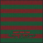 Knitting red green pattern. Christmas mood