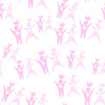 Seamless pink pattern silhouettes of couples
