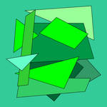 Set of abstract green geometric shapes