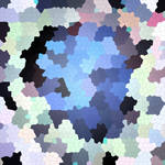 Abstract color mosaic pattern with circles