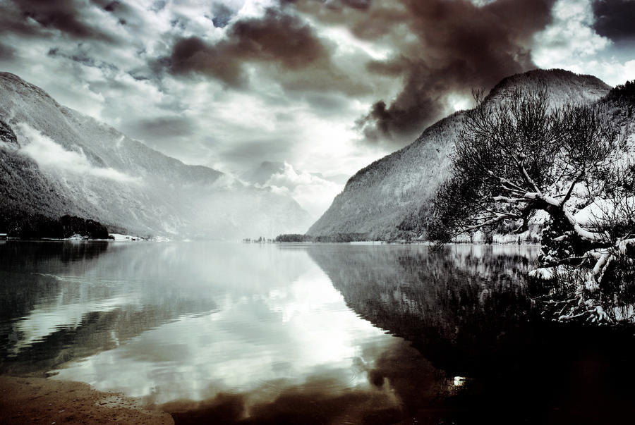 cold lake by CaveCanem42