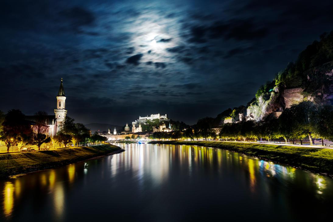 Full Moon In Spring by CaveCanem42