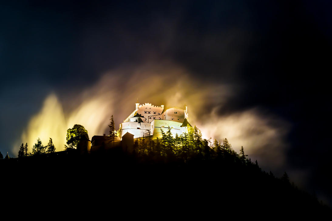 Castle in Fog by CaveCanem42
