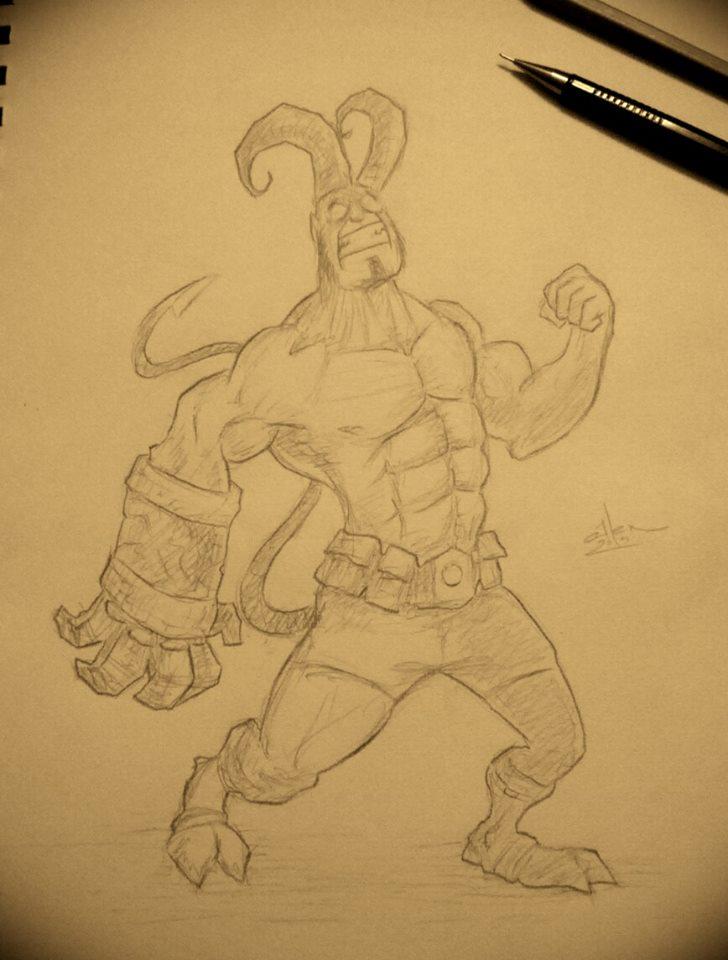 Hellboy by Henderzon