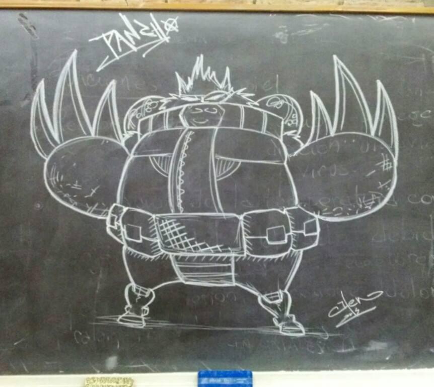 Pancho on Blackboard by Henderzon