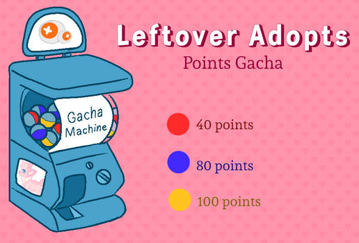 Open / Leftover Adopts / Point Gacha