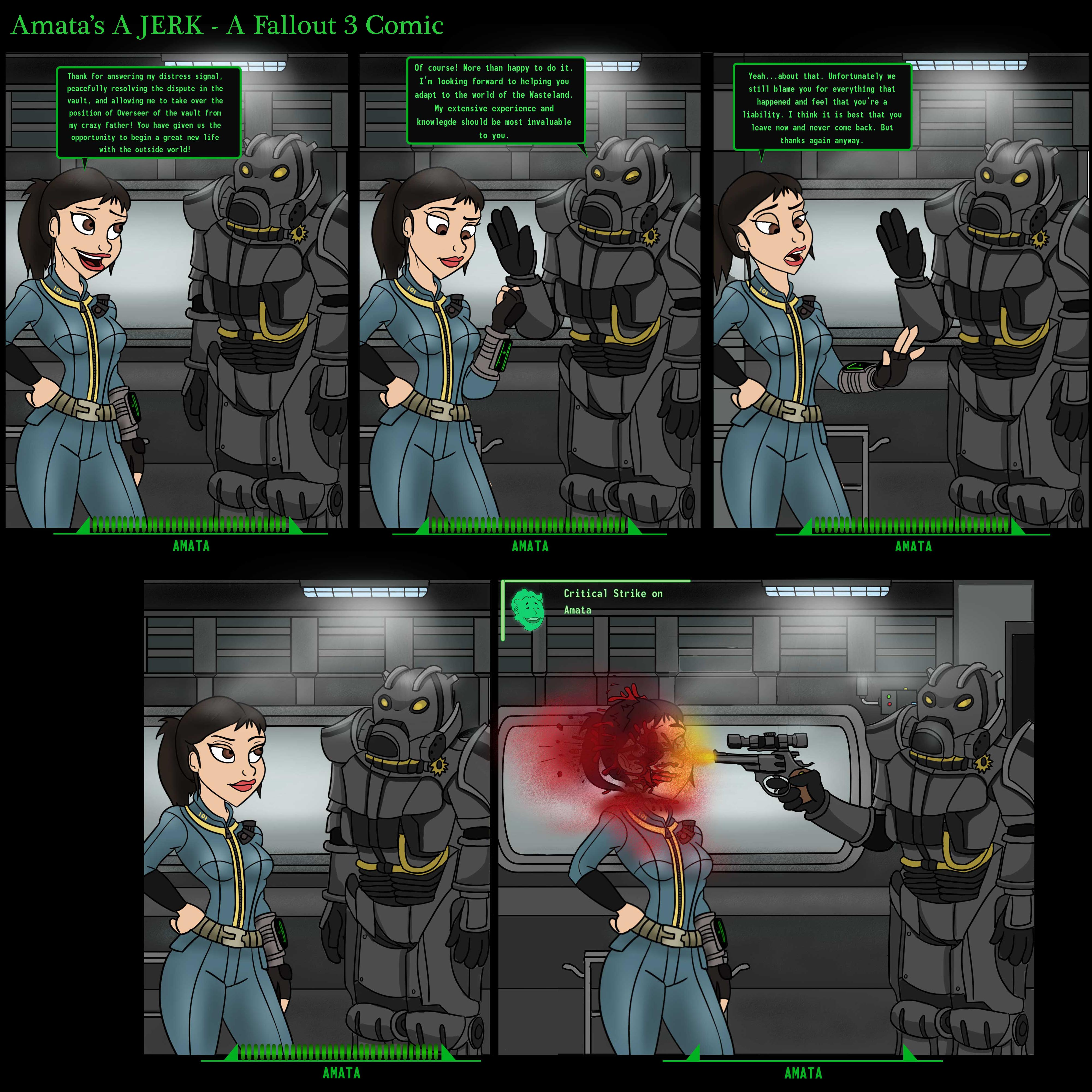 Fallout 3 Fan Art: Amata's A Jerk By 49ersrule07 On DeviantArt