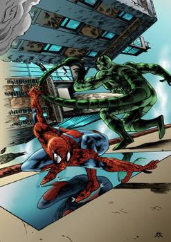 Spiderman Versus Scorpion