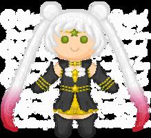 ArtTrade - Sailor Chibi Starhealer by StargazerSammie