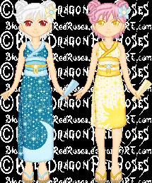 PixL Commish - Konijin and Kani by StargazerSammie