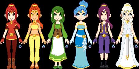 LoZ - Six Maidens by StargazerSammie
