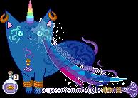 Custom - Jini, the Genie Mutant Wildcard by StargazerSammie