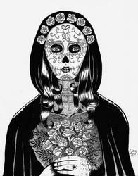 Inktober - Skeleton Bride by jupejuperocket