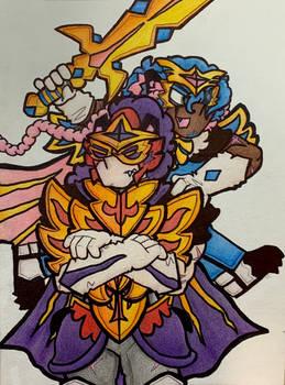 Zacian+Zamazenta Gijinkas (Pokemon Sword/Shield)