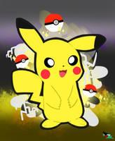 Pikachu by CloudyZu