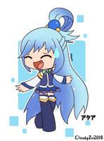 Aqua (Konosuba) by CloudyZu