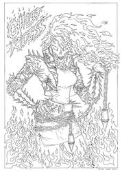 GHOST RIDESS - Line Art by AtariPunk633