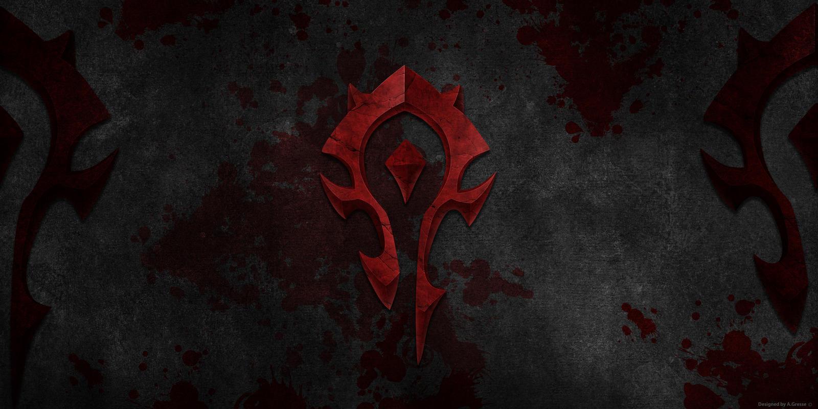 Wow Orc Logo Wallpaper By Gwinnblade On Deviantart