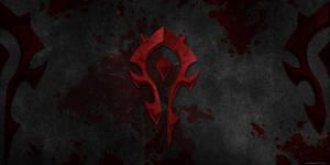 Wow orc logo wallpaper