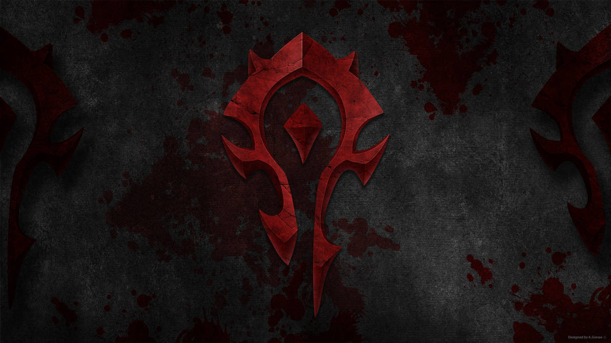 Wow Horde Logo Wallpaper By Gwinnblade On Deviantart