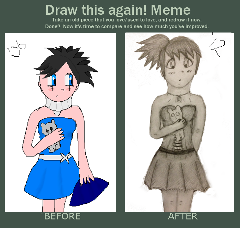 Draw this again meme by ieattomatoes on deviantart for Draw this again meme template
