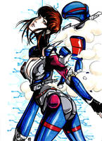 Bubblegum Crisis Priss by nicoyguevarra
