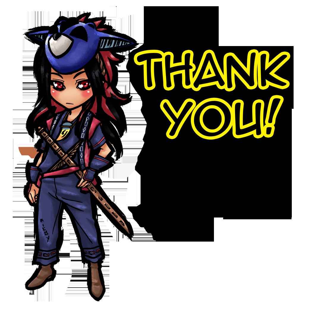 Chibi Okami Oki Thank You by nicoyguevarra